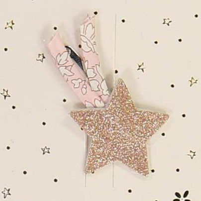 Luciole et Petit Pois Little Cloud Loves Liberty Shooting Star Hair Clip - Pink
