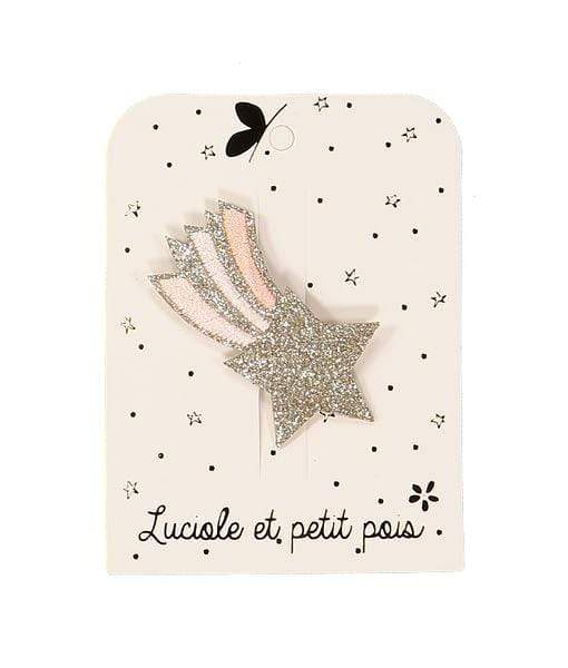 Luciole et Petit Pois Little Cloud Loves Liberty Luciole et Petits Pois - Shooting star hair clip - Blue