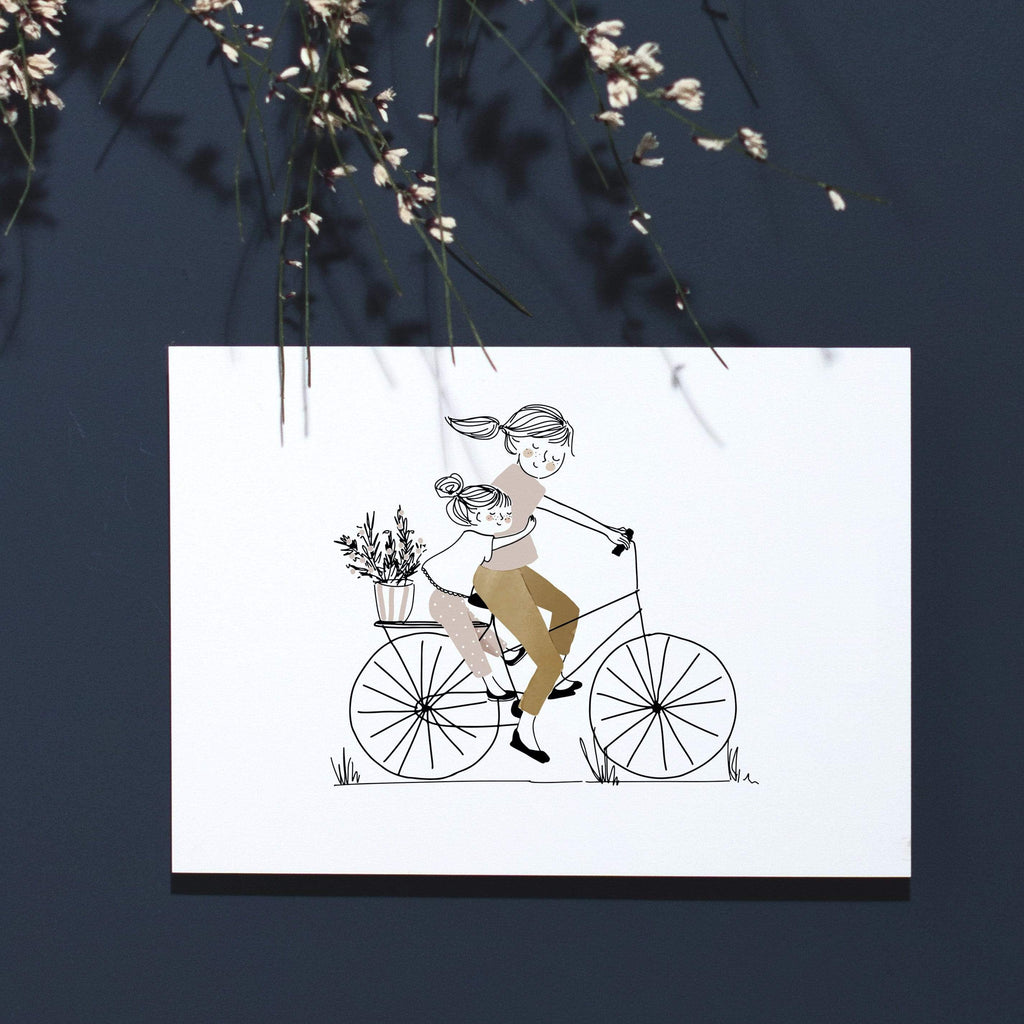 My Lovely Things Postcards Liberty Bike Mama & Girl