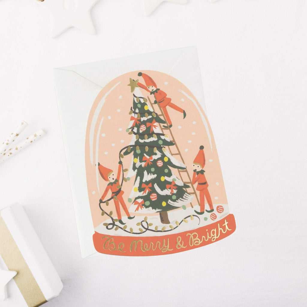 Rifle Paper Greeting Card Liberty Merry Elves Card
