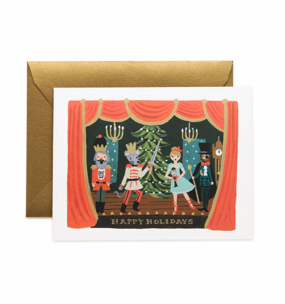 Rifle Paper Greeting Card Liberty Nutcracker Scene Card