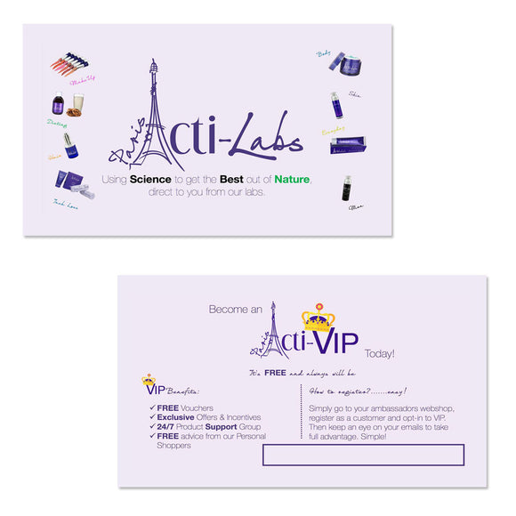 Business Cards (AL-VIP) (BLANK no personalisation)