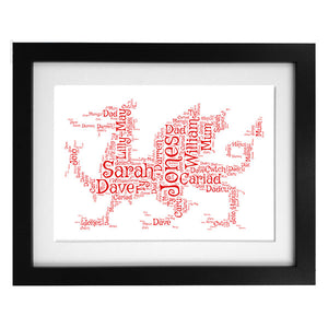 Word Art Print - Red Dragon - OFFER NOW CLOSED