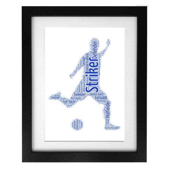 Word Art Print - Footballer
