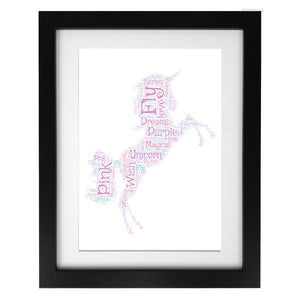 Word Art Print - Unicorn