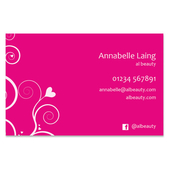Business Cards (BC105PINK-SS)