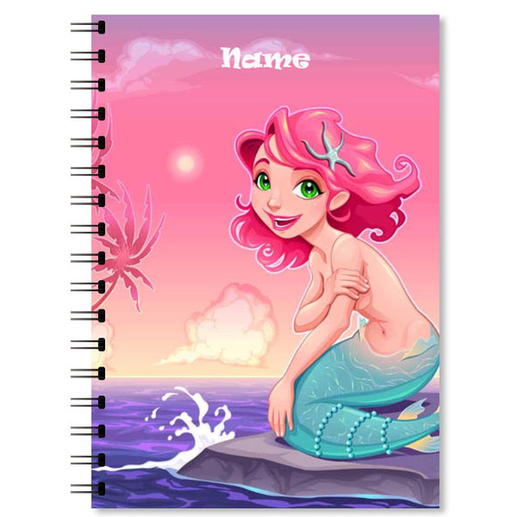 Personalised Mermaid Notebook (5)