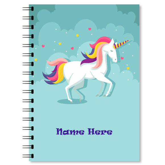 Personalised Unicorn Notebook (2)