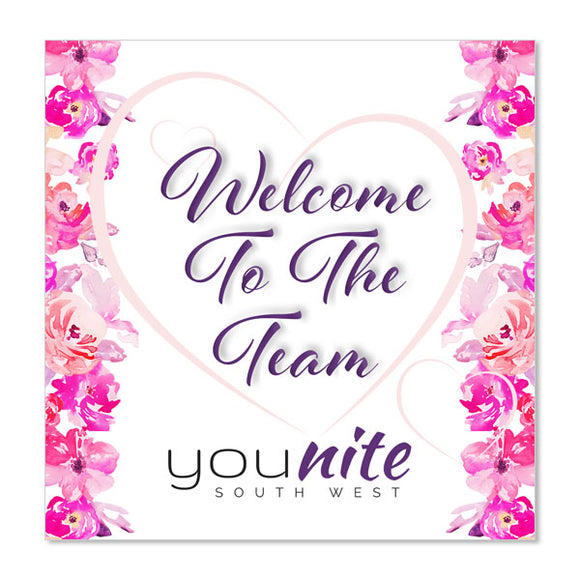 YouNite Welcome To The Team Cards