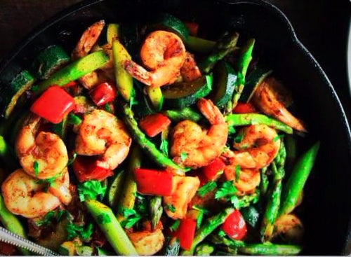 Mixed Seasonal Vegetables with Turkey or Shrimp