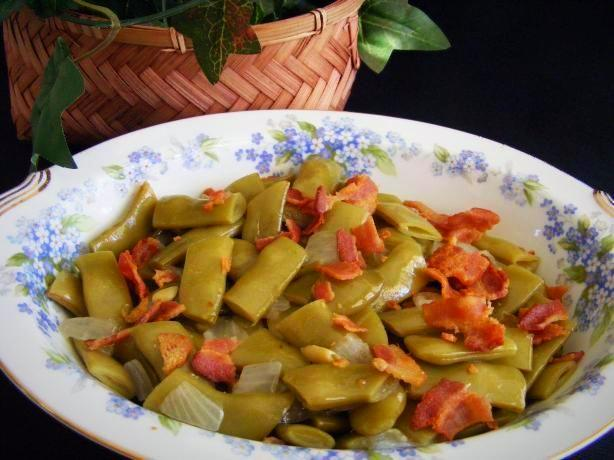 Seasoned Green Beans With Turkey or Pork