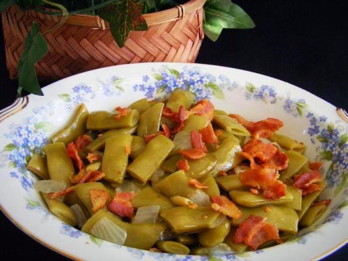Italian Flat Green Beans With Turkey or Pork