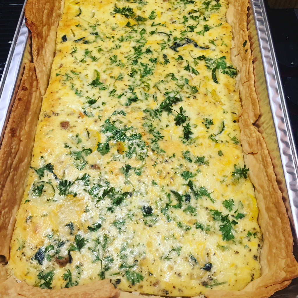 Quiche Loraine (Spinach, Mushroom and Bacon)