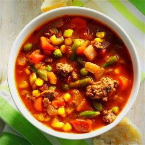 Turkey or Beef Vegetable Soup