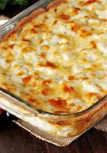 1/2 Pan of Baked Macaroni and Cheese