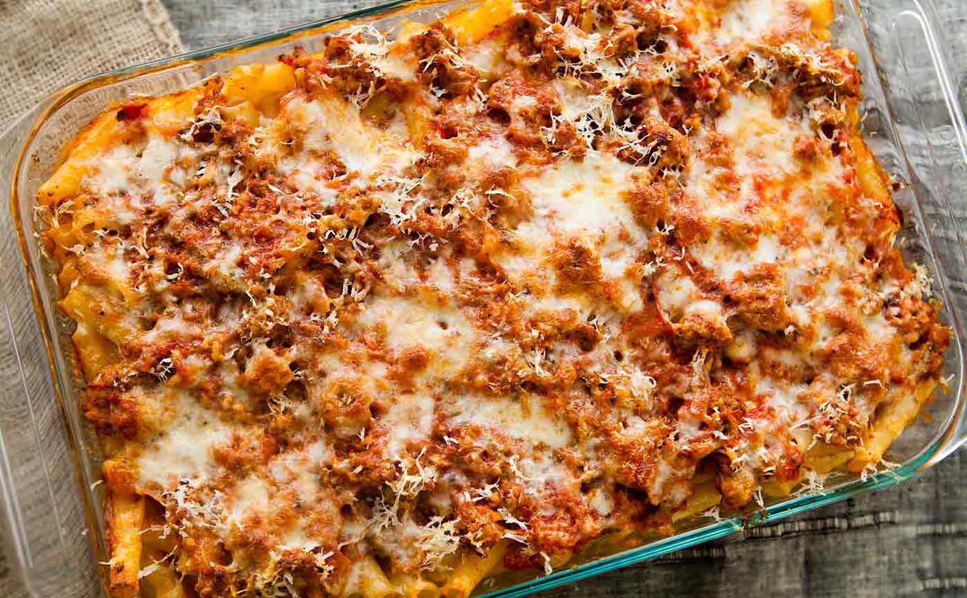 Baked Ziti (with Beef)