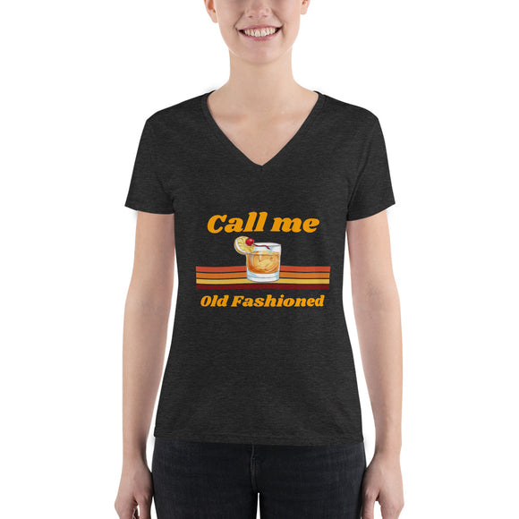 Call Me Old Fashioned Women's Deep V-neck Tee