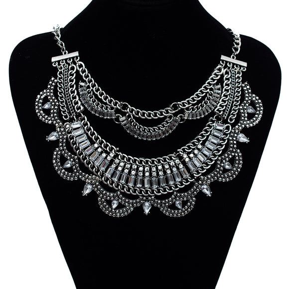 Find Me 2017 brand Fashion Power Vintage Boho big gem ethnic Necklace Women Jewelry crystal Maxi statement necklace wholesale