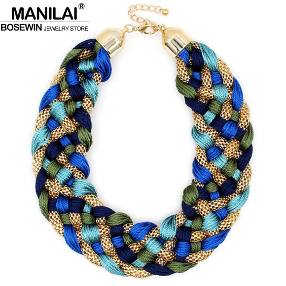 Fashion Weaved Handmade Big Necklace