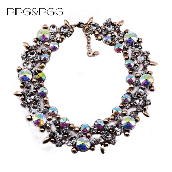 Luxury Gems Collar Big Rhinestone Chokers Statement Necklace