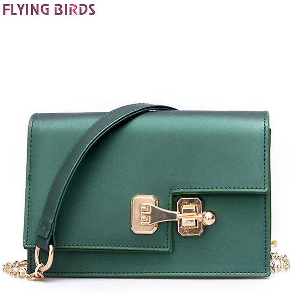 FLYING BIRDS bags handbags women famous brands chain messenger bags lock style leather tote mini high quality pouch A387fb