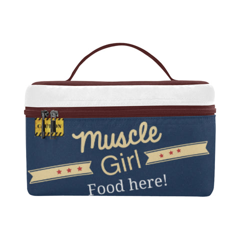 "Lunch Bag/Large (Model 1658) ""Muscle Girl food here"""