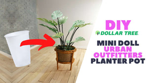 DIY Mini Doll Plant Planter Pot inspired by Urban Outfitters
