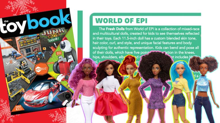 View the full Toy Book magazine feature of the Fresh Fashion Dolls