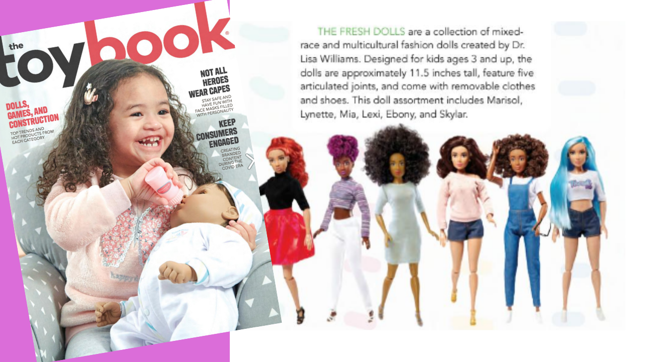 toybook features the Fresh Dolls