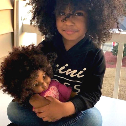Natural hair ethnic dolls for mixed race girls