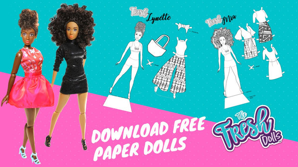 Download our free fashion paper doll downloads from The Fresh Dolls