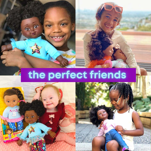 Black dolls with natural curls and true representation of Black Beauty