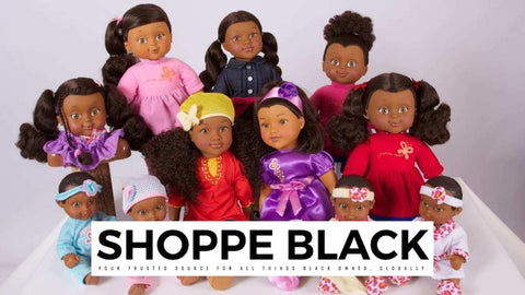 shoppe black Black owned businesses that sell black dolls