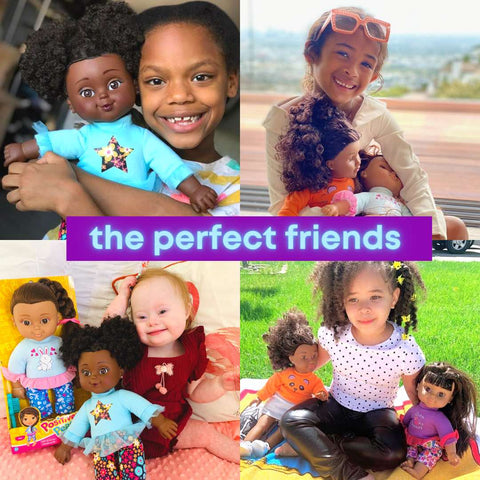 Black baby dolls of all shades for true representation of their beauty and friends