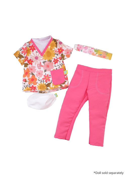 18 inch baby doll pink nurse scrubs fresh dolls