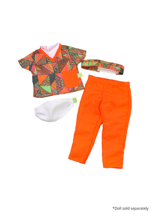 18 inch doll essential workers scrubs orange