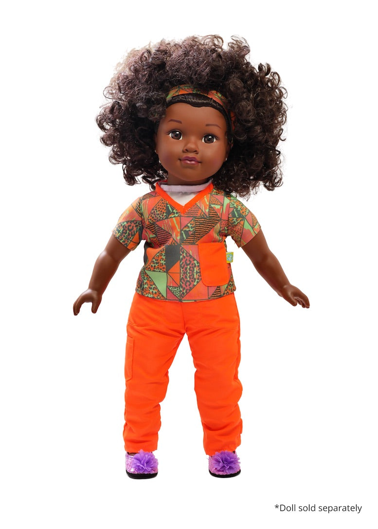 18 inch doll scrubs fresh dolls essential worker face mask