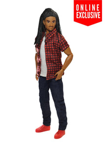 black male doll fashion doll braids locs the fresh squad
