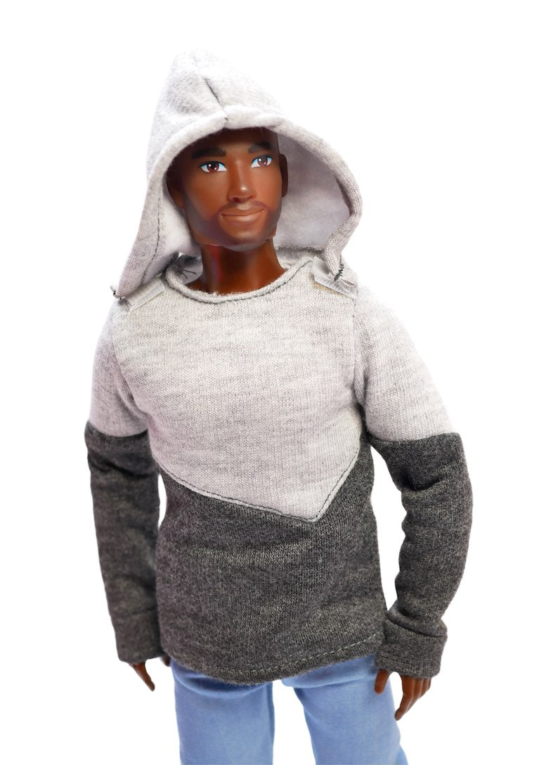 anthony black male fashion doll hoodie jeans fresh squad dolls