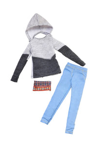 black male fashion doll hoodie denim jeans fresh squad