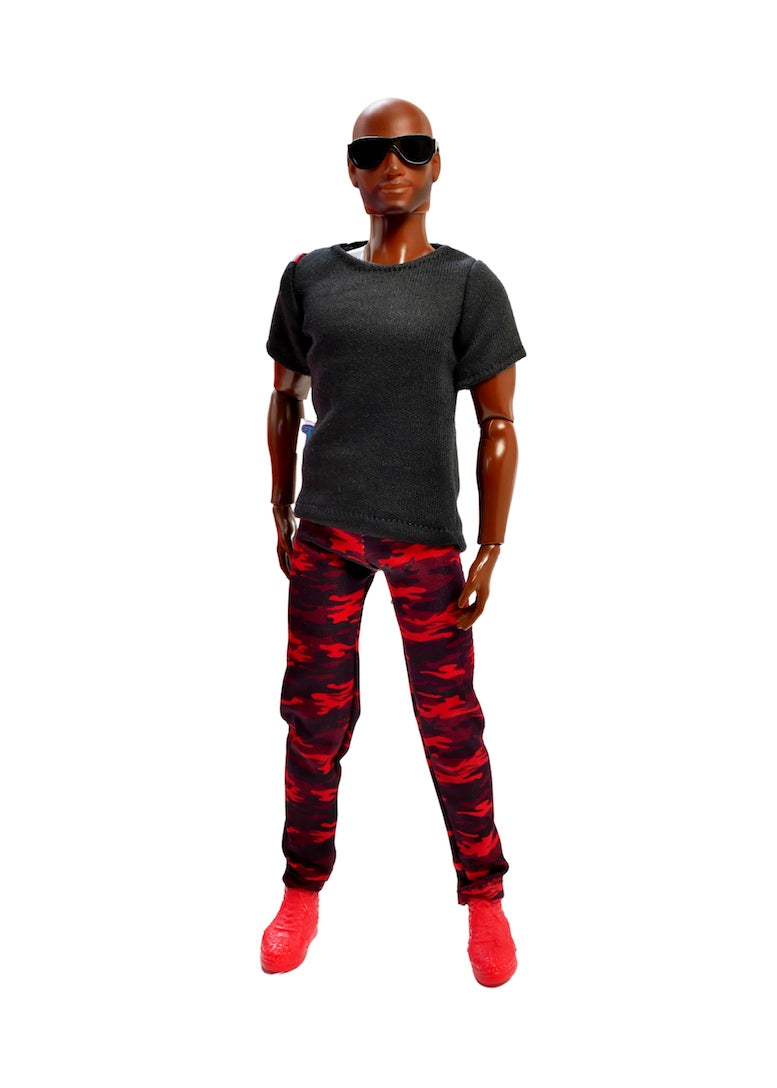 black red camo pants male doll clothes fresh dolls