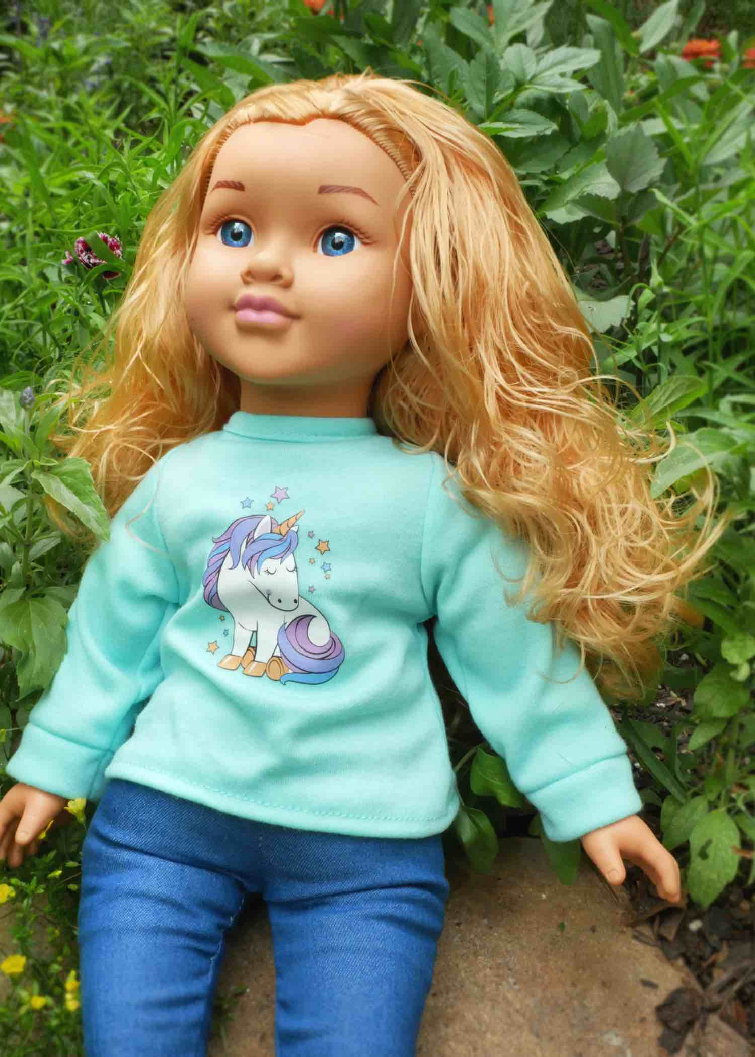 Blonde baby doll toddler doll positively perfect doll