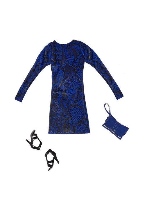 fashion doll Snake Print lace Dress fresh dolls