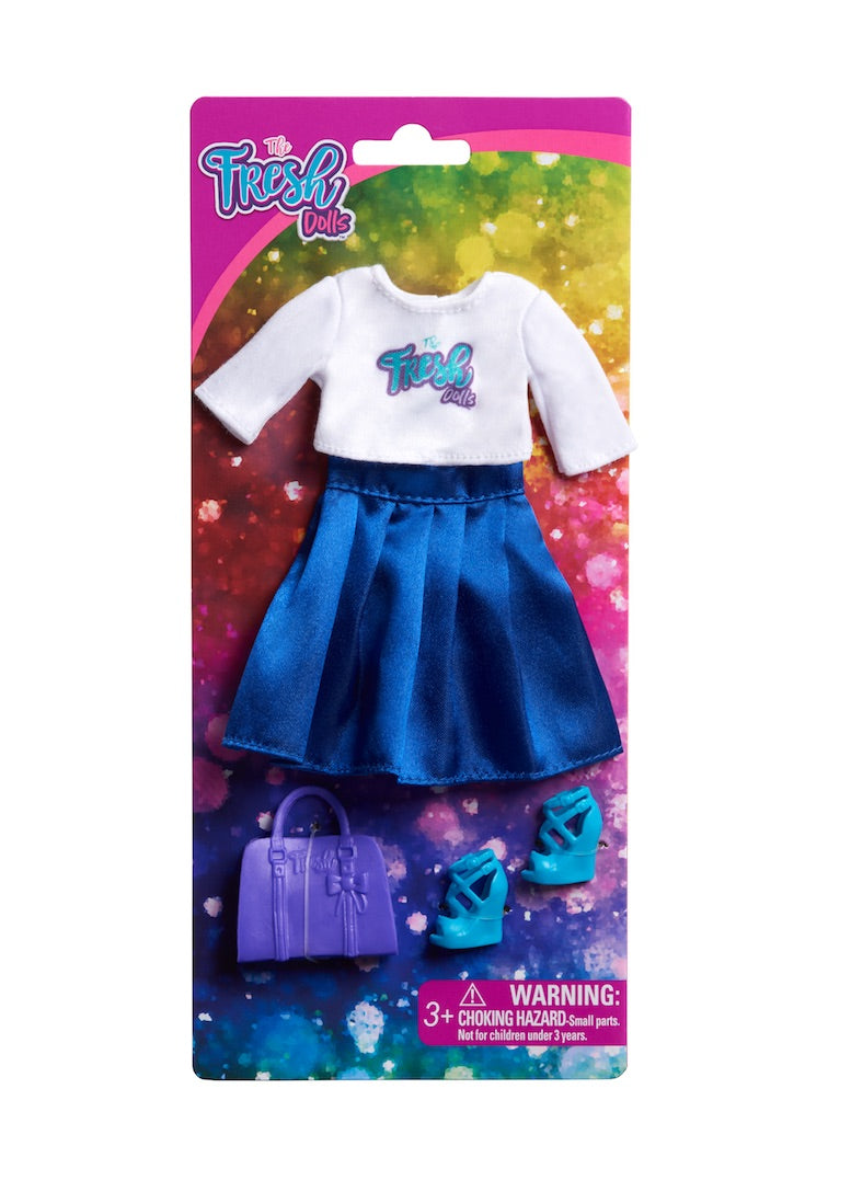 curvy fashion doll clothing fresh dolls blue skirt