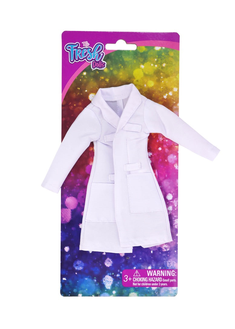 curvy fashion doll doctor lab coat fresh dolls