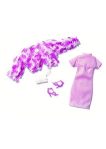 STRAWBERRY SMOOTHIE Pink Dress & Faux Fur Jacket Doll Fashion Pack