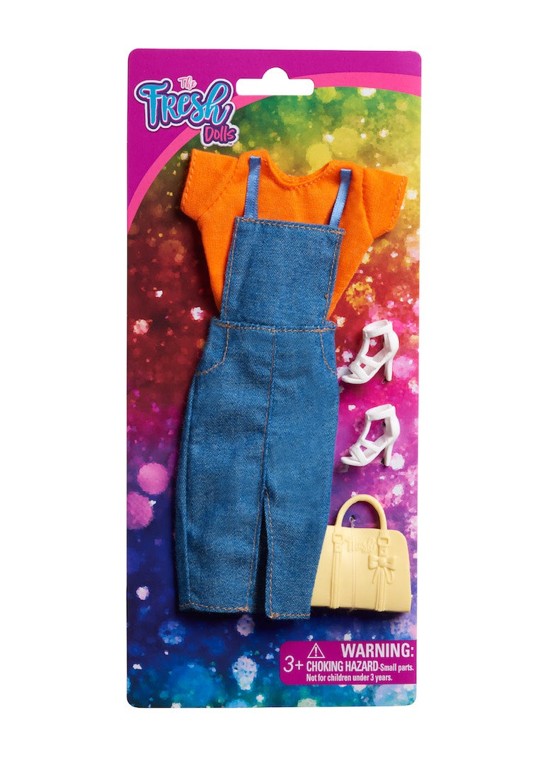 doll clothes fashion denim dress top fresh dolls