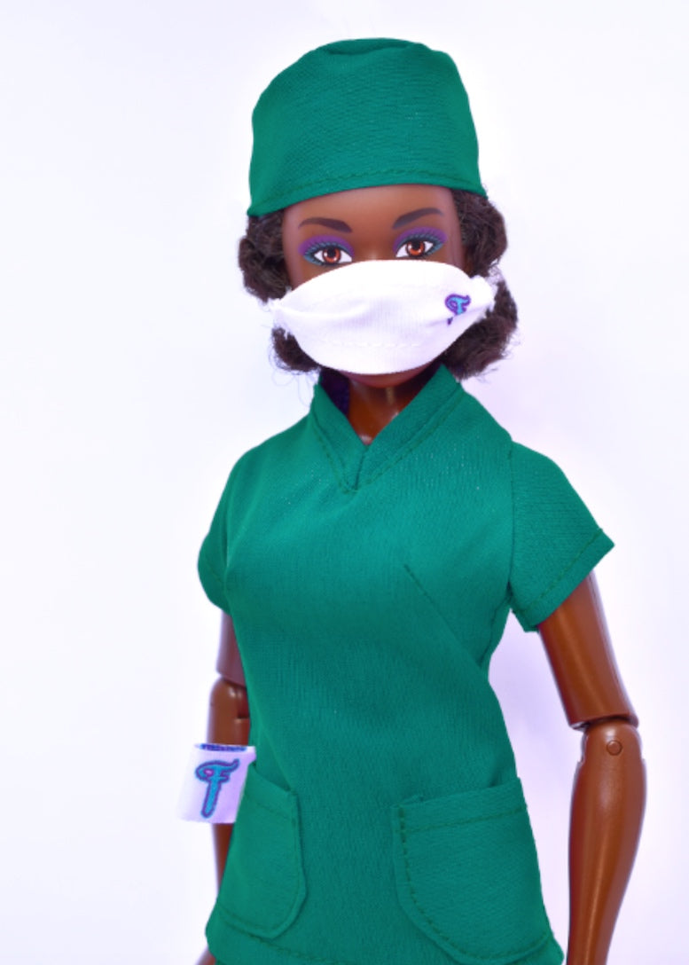 fresh dolls fashion pack green scrubs