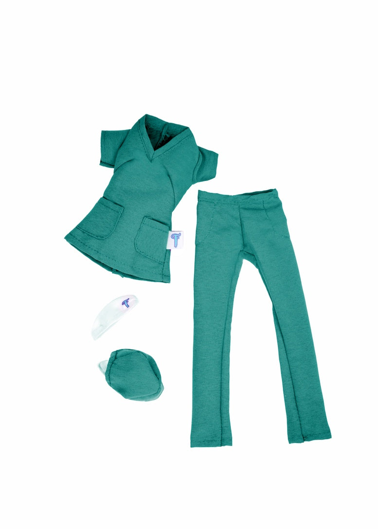 fashion doll green scrubs essential workers nurse uniform
