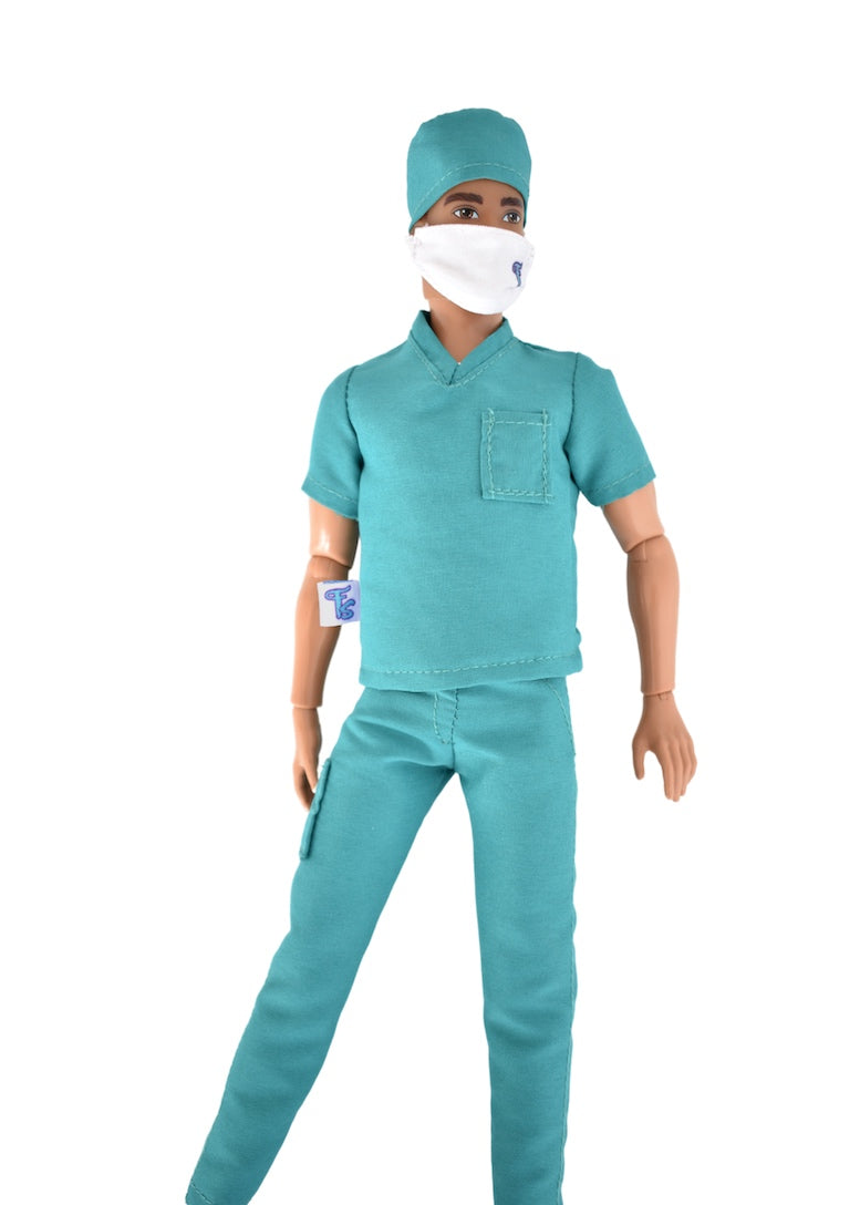 male fashion doll doctor scrubs surgeon fresh dolls